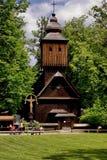 Het dorp van de peulRadhostem van Roznov (het monument van Unesco) Stock Foto