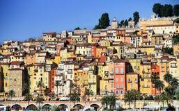 Het dorp van de Provence van Menton op Franse Riviera Stock Foto's