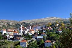 Het dorp van de Sharberg Stock Afbeeldingen