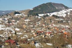 Het dorp van de vallei Stock Afbeeldingen