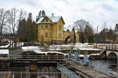 Het dorp van de Verlamolen, Finland stock afbeeldingen