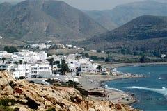 Het dorp van de visser stock afbeelding