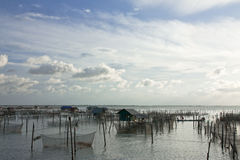 Het dorp van de visser. Stock Foto