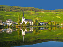Het dorp van de wijn in de Moezel stock afbeelding