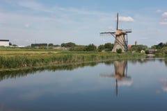 Het dorp van de windmolen in Holland Royalty-vrije Stock Foto
