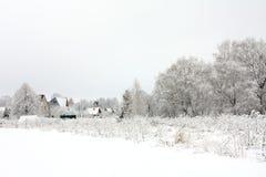 Het dorp van de winter Royalty-vrije Stock Afbeeldingen