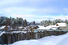 Het Dorp van de winter Stock Foto's