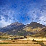Het dorp van Dhotarap in Dolpo, Nepa royalty-vrije stock foto's