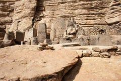 Het dorp van Dogon, Mali (Afrika). stock afbeelding