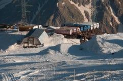Het dorp van Elbrusvaten Stock Afbeeldingen