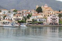 Het dorp van Galaxidi Royalty-vrije Stock Foto's