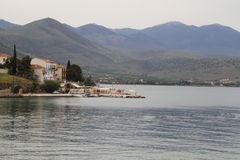 Het dorp van Galaxidi Stock Afbeelding