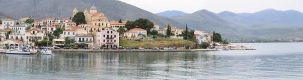 Het dorp van Galaxidi Royalty-vrije Stock Afbeelding