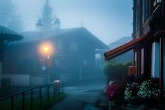 Het Dorp van Gimmelwald, Zwitserland Stock Afbeeldingen