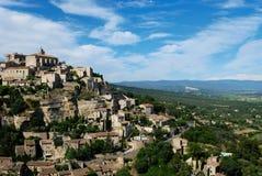 Het dorp van Gordes van avigon Frankrijk Stock Afbeeldingen
