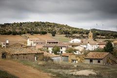 Het dorp van Gr Pedregal op een bewolkte dag, Guadalajara Royalty-vrije Stock Foto