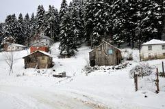 Het dorp van het Abantmeer Stock Afbeeldingen