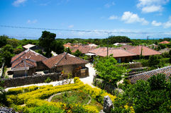 Het dorp van het eiland stock fotografie