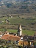 Het dorp van het platteland en landelijk landschap Royalty-vrije Stock Fotografie