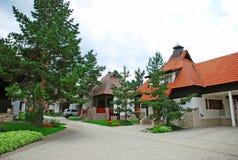 Het dorp van het plattelandshuisje royalty-vrije stock foto