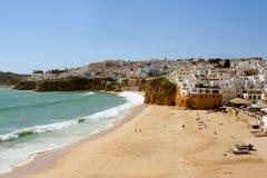 Het dorp van het strand royalty-vrije stock foto