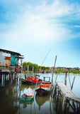 Het dorp van het visserswater Stock Foto