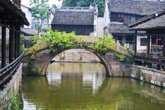 Het dorp van het water Stock Afbeelding