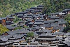 Het dorp van Hmong stock foto