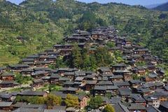 Het dorp van Hmong stock afbeeldingen