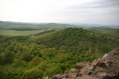Het dorp van Holloko stock foto's