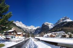 Het dorp van Horbis in de winter royalty-vrije stock foto