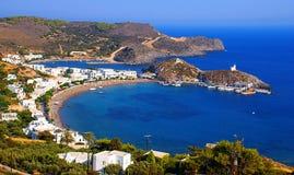 Het dorp van Kapsali in Griekenland Stock Afbeeldingen