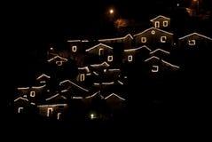 Het dorp van Kerstmis Stock Fotografie