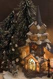 Het dorp van Kerstmis Stock Foto