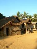 Het dorp van Khmu stock foto's