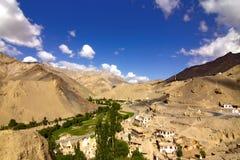 Het dorp van Lamayuru, Ladakh Stock Foto