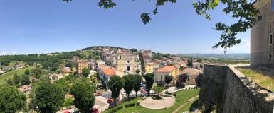 Het dorp van landschapsgesualdo, van district Avellino, Italië Royalty-vrije Stock Afbeeldingen