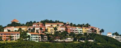 Het dorp van Lascasitas, Fajardo, Puerto Rico stock fotografie