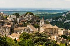 Het dorp van Lesbaux DE de Provence, Frankrijk Royalty-vrije Stock Afbeelding