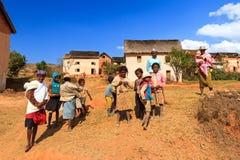 Het dorp van Madagascar Stock Afbeelding