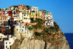 Het dorp van Manarola, Cinque Terre, Italië stock afbeelding