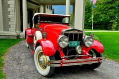 Het Dorp van Manchester, VT: Franklin Roadster in Hildene royalty-vrije stock fotografie