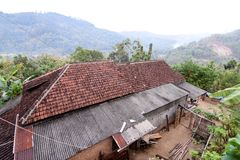 Het dorp van meningstugu in Trenggalek, Indonesië stock foto's