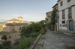 Het dorp van Miravet royalty-vrije stock fotografie