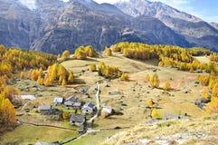 Het dorp van Monal Royalty-vrije Stock Fotografie