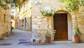 Het dorp van Mougins, Franse riviera. Stock Foto