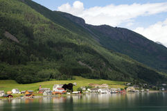 Het dorp van Mundal Stock Foto's
