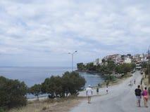 Het dorp van Neos Marmaras, Sithonia, Griekenland Stock Fotografie