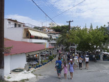 Het dorp van Neos Marmaras, Sithonia, Griekenland Royalty-vrije Stock Foto