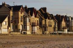 Het dorp van Normandië in Frankrijk: kust toevlucht Royalty-vrije Stock Foto